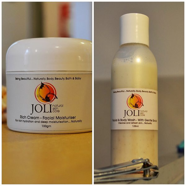 moisturiser and facial wash