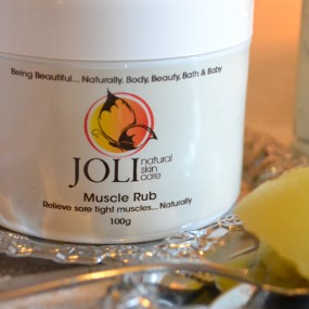 joli, natural muscle rub